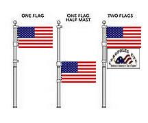 how to take apart a telescoping flag pole