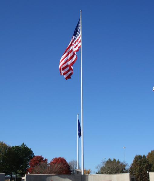 Solar Flagpole Light Annin Downward 100 LUX Solar Flag Pole Lighting Solution