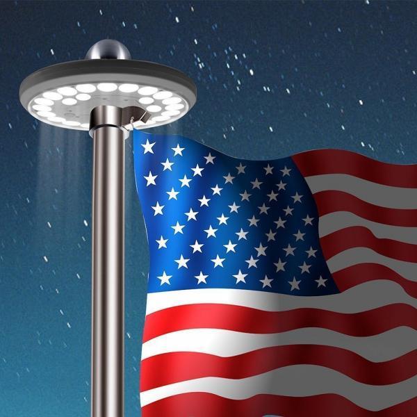Solar Flagpole Lighting 15 40 Flagpoles Etc