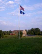 30 ft. x 4 in. x .125 in Aluminum Flagpole