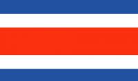 COSTA RICA Nylon Country Flag