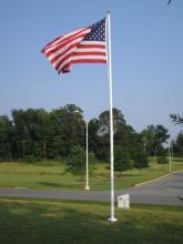 Fiberglass External Flagpoles: 50'