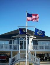 45 ft. Nautical Flagpole