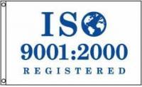 ISO Flag 9001 2000 4x6