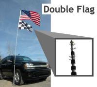 Flagpole-To-Go (Portable Telescoping ALUMINUM Flagpole): 20 ft