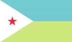 DJIBOUTI Country Flag